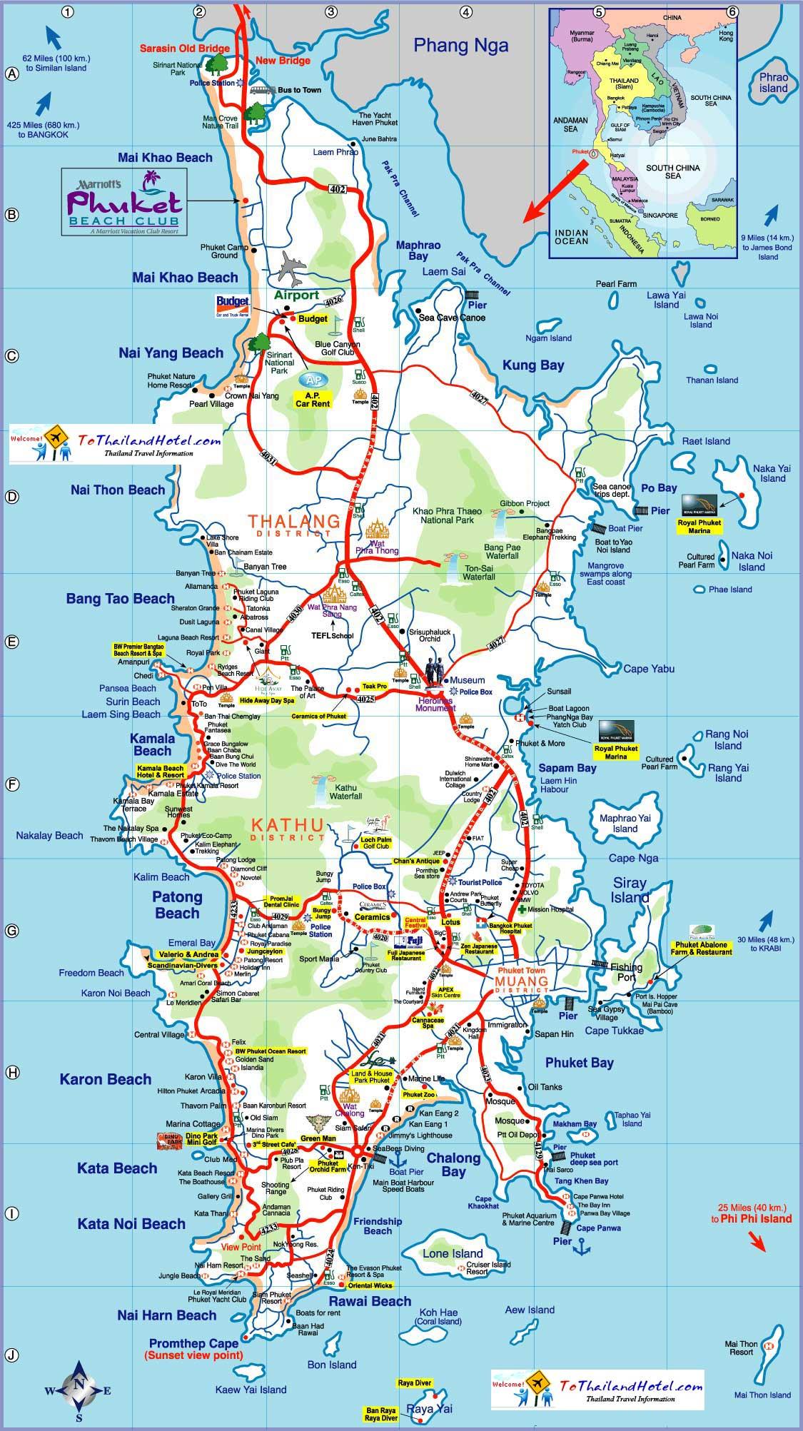 Thajsko Mapy
